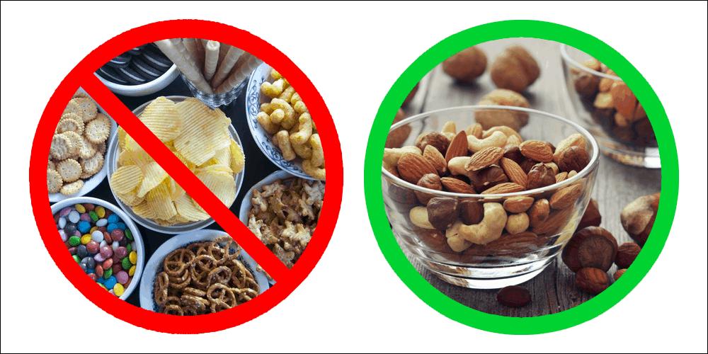 Healthy gamer snacks
